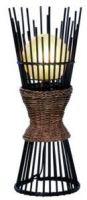 Ikona: REALITY Stojací dekorační designové, papírové svítidlo, bambus ELMAU 50110143
